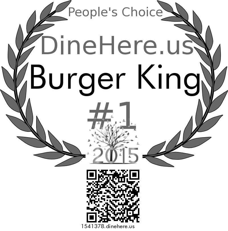 Burger King DineHere.us 2015 Award Winner